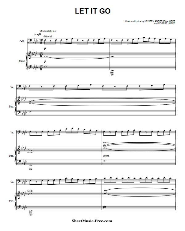 Let It Go Sheet Music The Piano Guys With Images Sheet Music