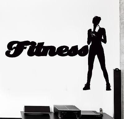 Wall Sticker Sport Fitness Crossfit Female Woman Girl Vinyl Decal Unique Gift (z3066)