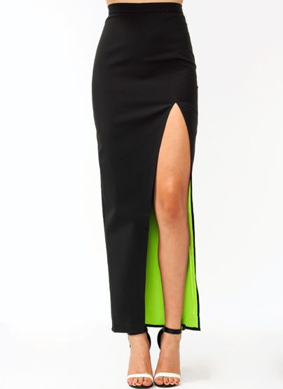 Structured Equilateral Maxi Skirt
