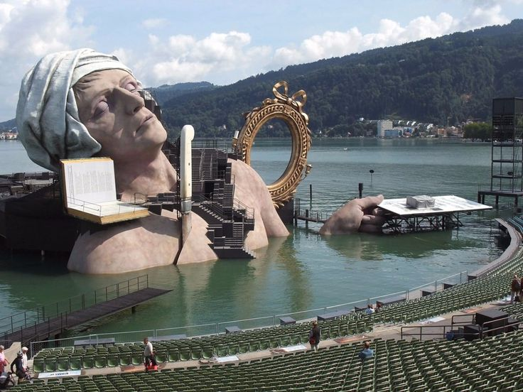 The annual Bregenz Festival, which is held in Austria from July through August, is known for the incredible fantasy-like sets built on its floating stage.