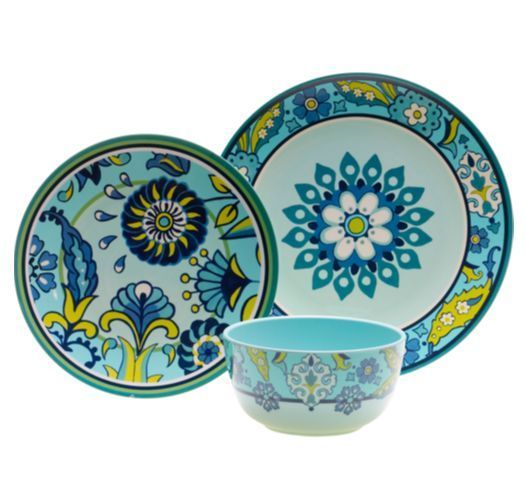 Costco Capri Melamine Dinnerware- look like terrac cotta ceramic but durable BPA free plastic- another obsession!  sc 1 st  Pinterest & 27 best Al Fresco Dining images on Pinterest | Dish sets Dishes and ...