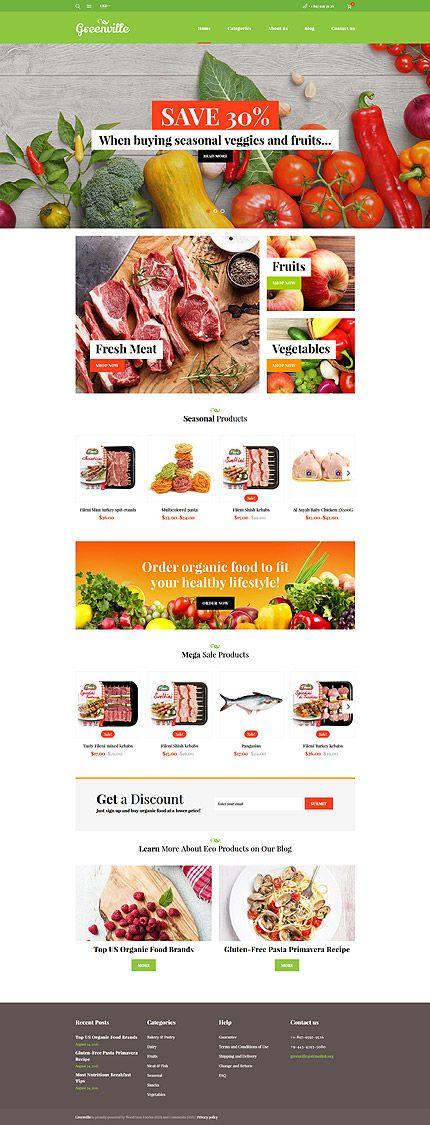 Seasonal Veggies & Fruits Online Store #WooCommerce #template. #themes #business #responsive #WooCommercethemes