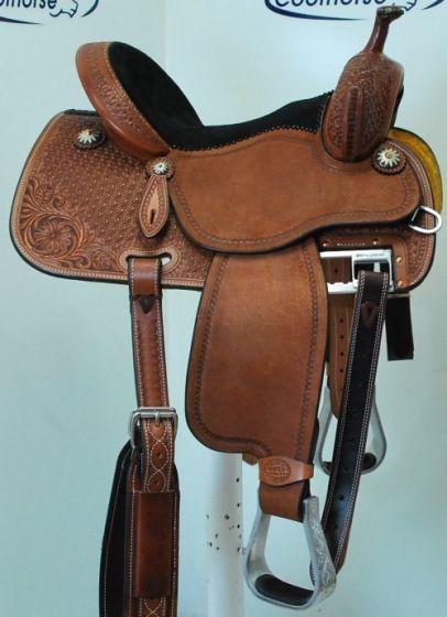 "Coolhorse New! 14"" Crown C Barrel Racing Saddle by Martin Saddlery"