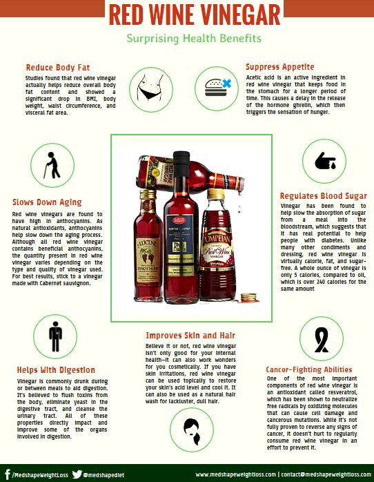Discover the health benefits of Red Wine Vinegar and how it can help you #loseweight!