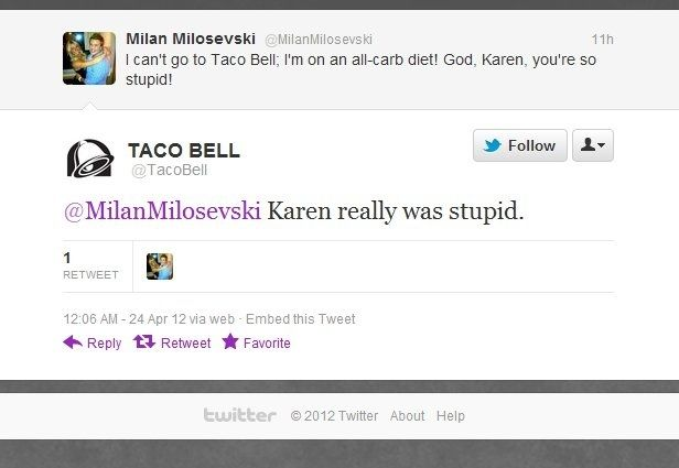 Taco Bell is doing twitter how twitter should be done.