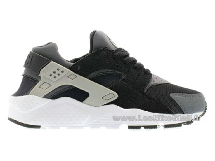 Officiel Nike Air Huarache Chaussures Nike Pas Cher Pour Homme Noir/Wolf  Gris 654275,