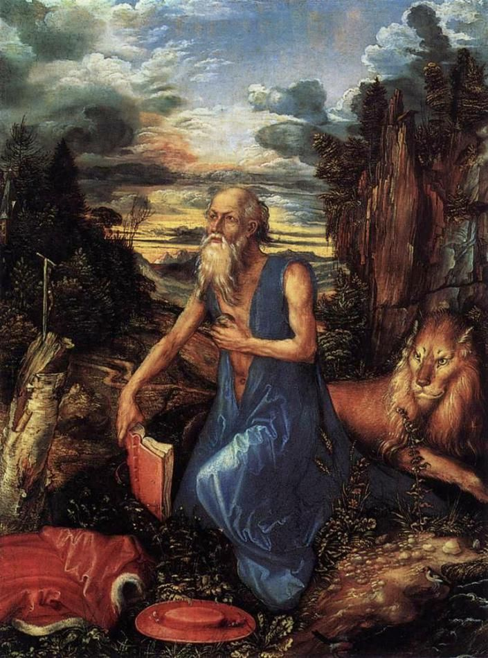 letter of authorization format%0A Albrecht D  rer  St Jerome in the Wilderness  oil on panel  National  Gallery  London