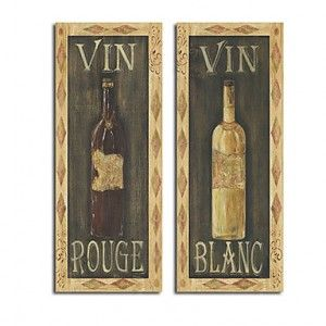 Hand-painted Red Wine White Wine Life Oil Painting with Stretched Frame - WallArtBox