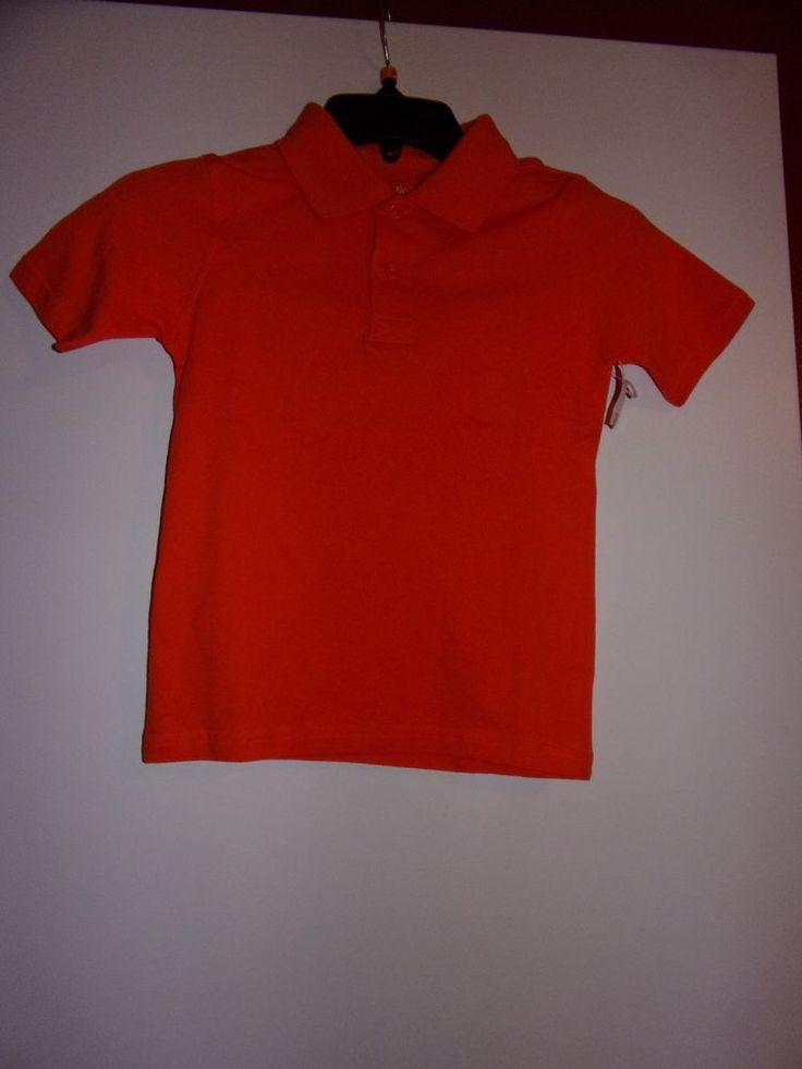 Faded Glory : Boys XS (4-5) Orange Polo Shirt / Brand New With Tags #FadedGlory #Everyday