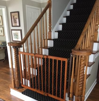 If you have stairs and a toddler on the move, you need child safety gates now. Call us and we'll custom install your gates to match your home's decor in one visit