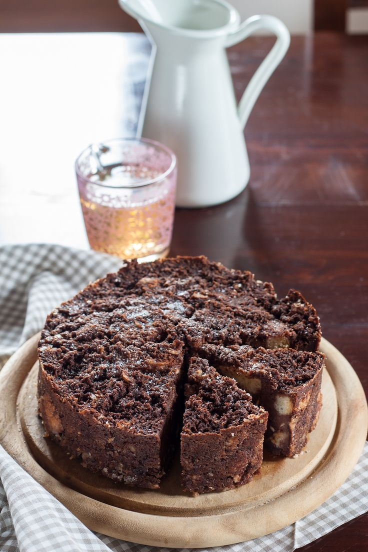 Bread pudding cake for breakfast