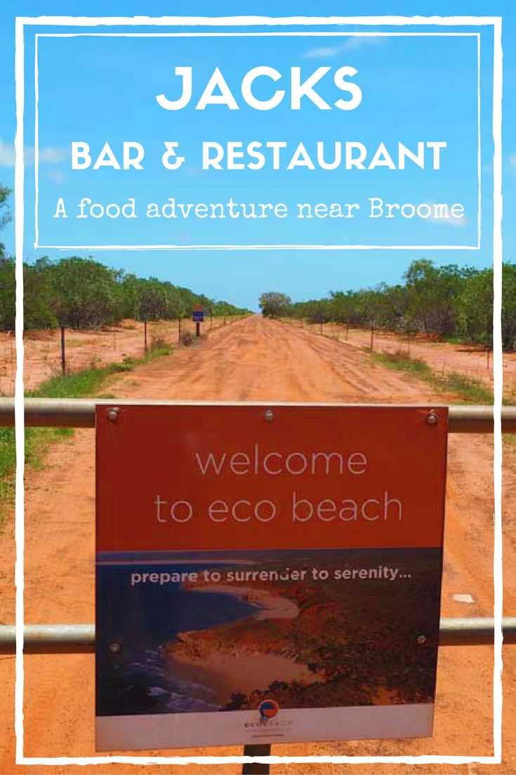 Getting to Jacks Bar and Restaurant near Broome is half the fun!