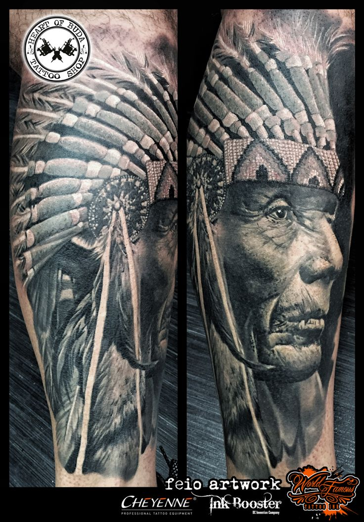 Native American Indian Chief tattoo