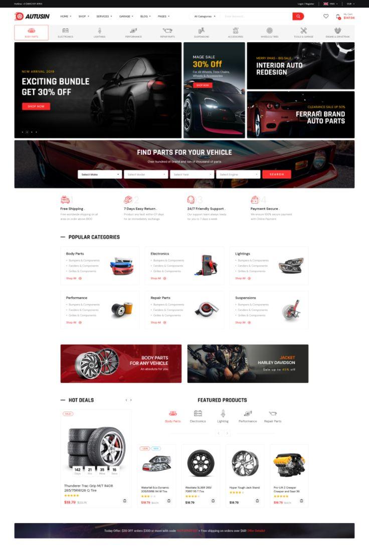 Autusin Auto Parts & Car Accessories Shop Elementor