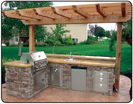 Simple Outdoor Kitchen : Love this simple outdoor kitchen  For the Home  Pinterest