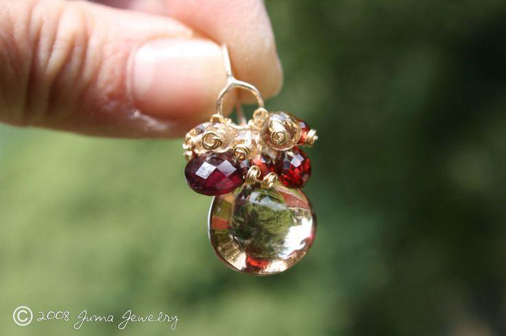 CRANBERRY PUMPKIN TEACAKE earrings on hand | Judy | Flickr