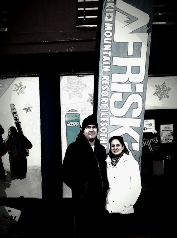 Rob 'The Snow Man'  & Serena Ansell at Afriski