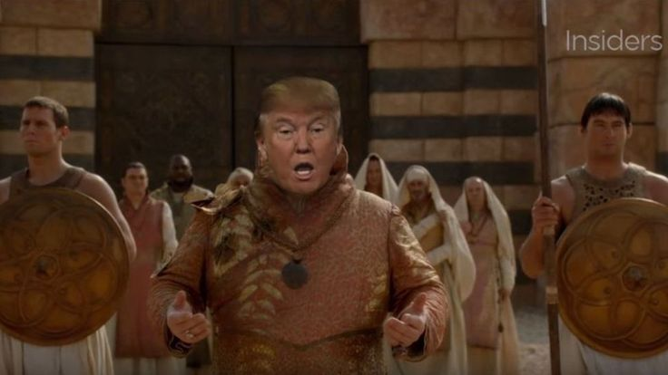 Perfect! Donald Trump 'stars' as evil character in Game of Thrones mash-up - BBC News
