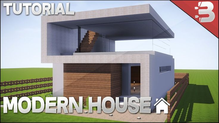 Minecraft: How to Build a Small Modern House in Minecraft [ Easy Tutorial ]