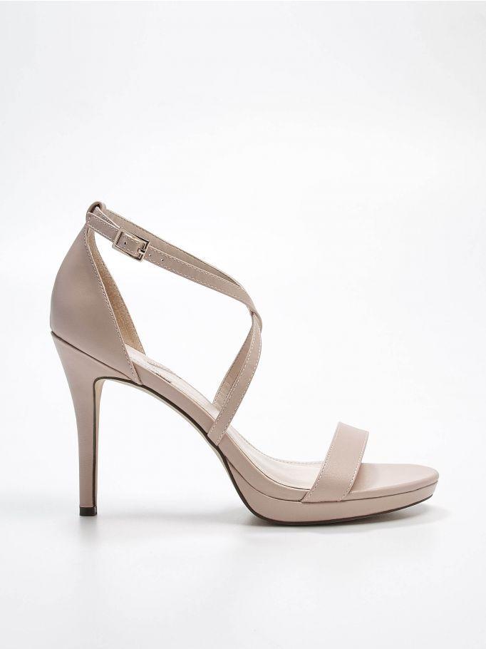 Sandały na szpilce, MOHITO, QX370-02X