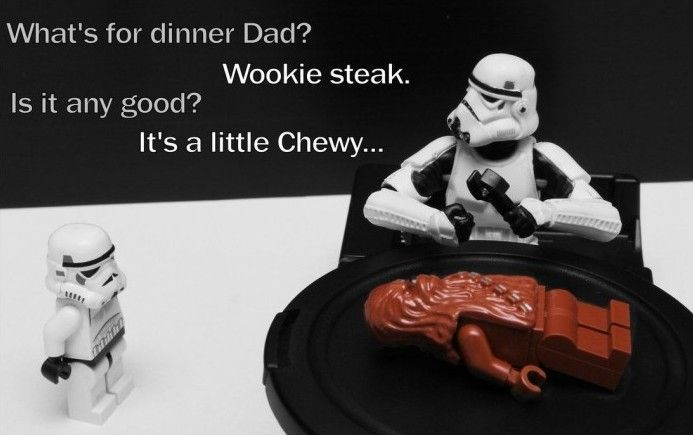 wookie steak oh please any boy would eat that not just people from star wars ok!!!!