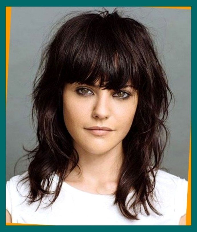 haircuts for thick hair with bangs 15 modern medium length haircuts with bangs layers for 5693