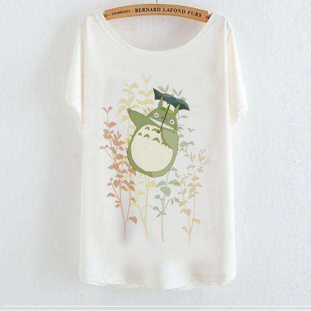 2015 casual t shirt vrouwen t shirt harajuku animal print totoro camisetas mujer losse tops vrouwen kleding grafische tee shirt femme in Pakket inclusief: 1 t- shirt1inch=2.54cmslechts een maatbuste: 110-120cmLengte: 60cmAlle t- shirts kleur witT- shirt is  van T- shirts op AliExpress.com | Alibaba Groep