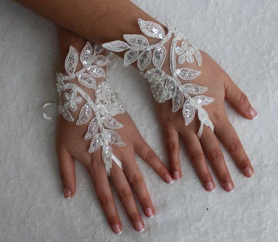 accessoires de mariage, gants de mariée, gants de dentelle, gants de mariée ivoire