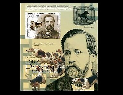 Guinea Bi. MNH SS, Louis Pasteur, Vaccines Rabies & Anthrax, Disease, Medicine -