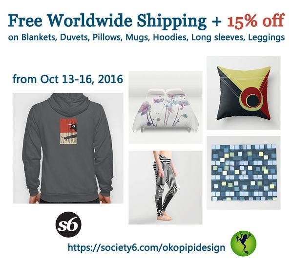 Free Shipping and 15% Off  on some home decor and apparel items!