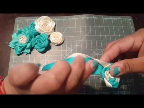 Flor en dos colores - YouTube