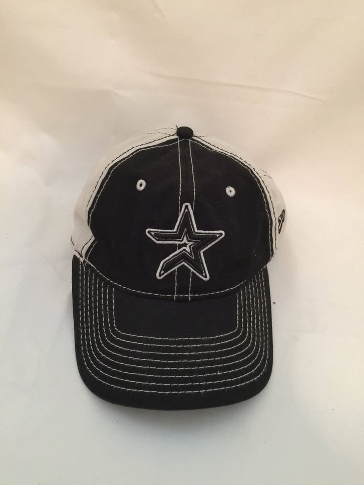 Houston Astros Baseball Cap; Black and White Houston Baseball Team, the Astros Sports Memorabillia Baseball Hat by Pamsplunder on Etsy