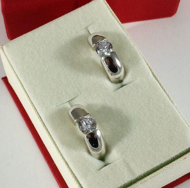 Vintage Ohrhänger - Silber 925 Creolen Ohrringe Kristall massiv SO275 - ein Designerstück von Atelier-Regina bei DaWanda