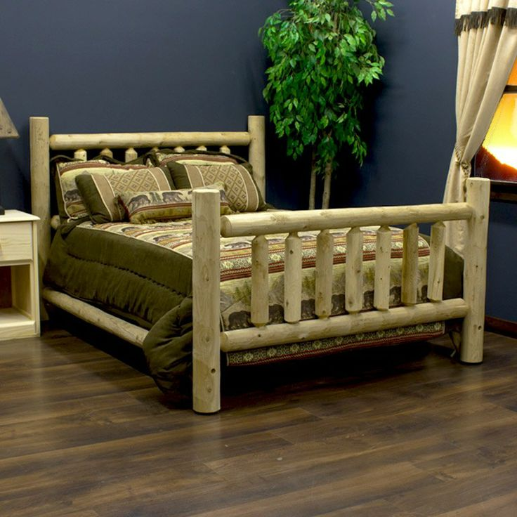 Charming Full Size Log Bed Http://www.logfurnitureplace.com/indoor
