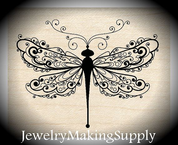 Wood Mounted Rubber Stamp Dragonfly