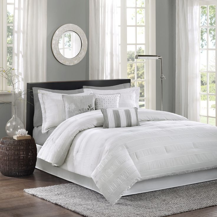 Madison Park Sheridan 7-Piece Cal-King Size Comforter Set in