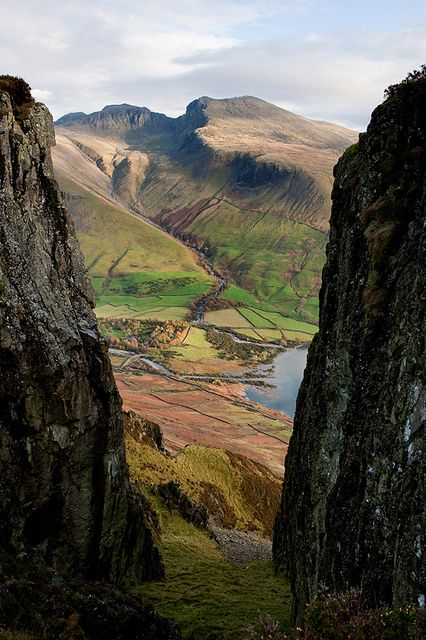Scafells through Great Door, Yewbarrow-Wasdale Head, England