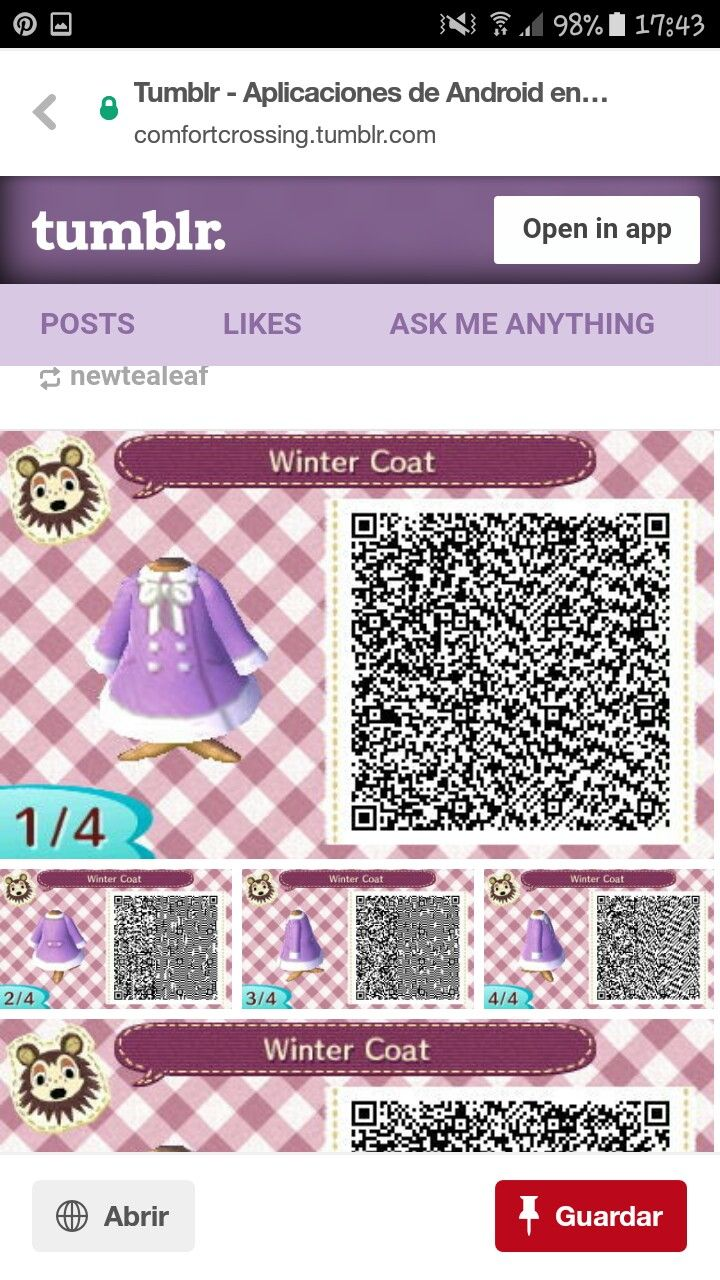 Pin By Summer The Pokemon Trainer On Ac Stuff Qr Codes Animal