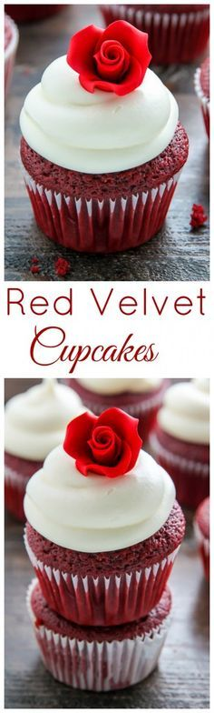 Supremely moist red velvet cupcakes topped with luscious cream cheese frosting - made in just ONE bowl! (peanut butter buttercream icing)