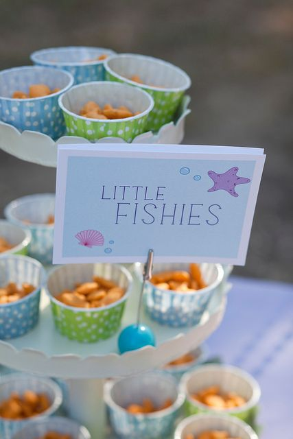 Fish snacks for ocean theme
