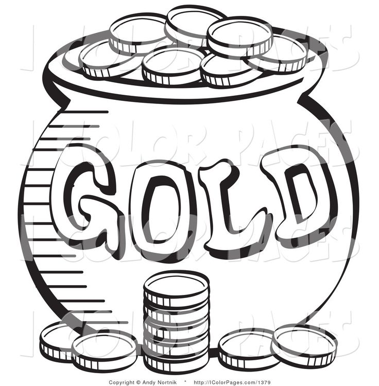 sant patricks money color sheet royalty free vector coloring page of a stack of coins