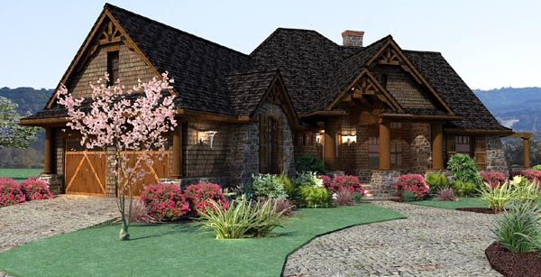 Craftsman House Plan | 1800 sq  ft | master and two bedrooms down | Bonus over 2 car garage | very large footprint | COOLhouseplans.com