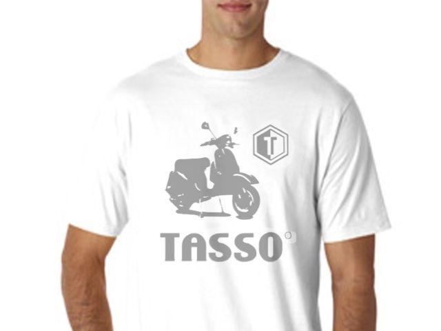 Tasso T-Shirt Cotton White - Classic Print Part No: TS100 Category: Tasso