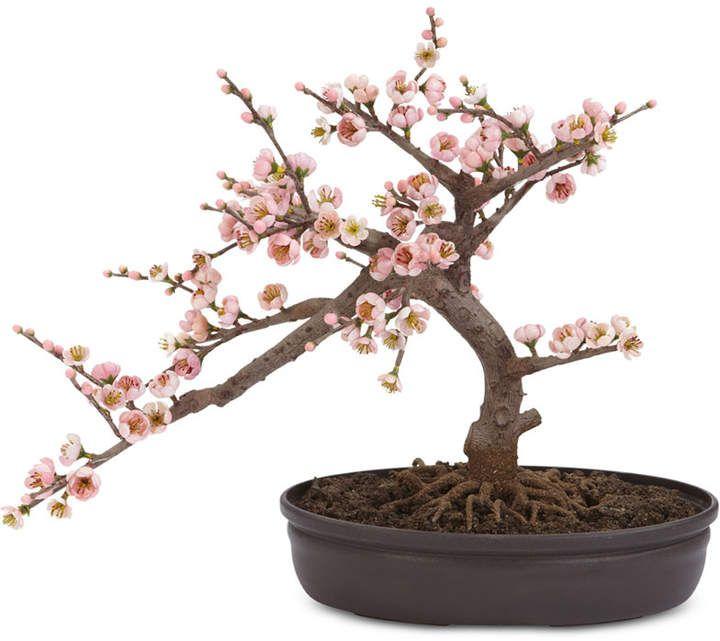 Nearly Natural Artificial Cherry Blossom Bonsai Tree Reviews Home Decor Home Macy S Cherry Blossom Bonsai Tree Artificial Cherry Blossom Tree Cherry Blossom Tree