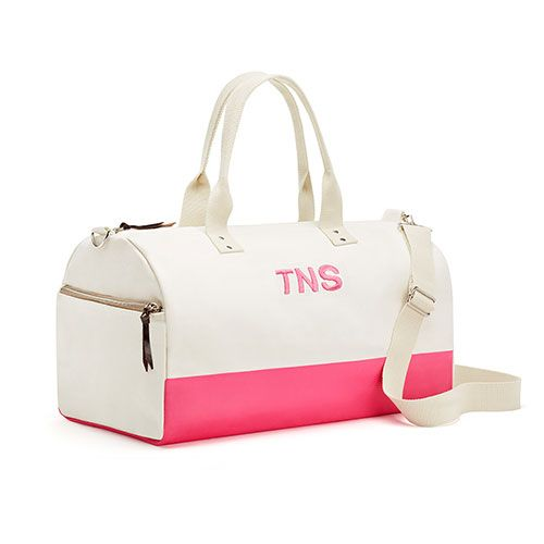 Off We Go Canvas Weekend Bag - Pink Candy - The Knot Shop