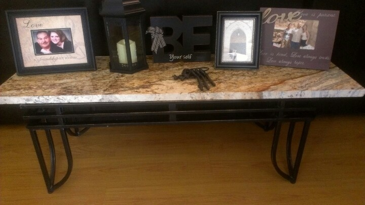 Coffee Table Recycled Granite Turned Into Awesome Behind Couch Table
