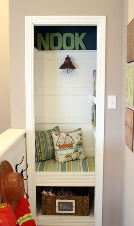 Reading Nook in a Cupboard