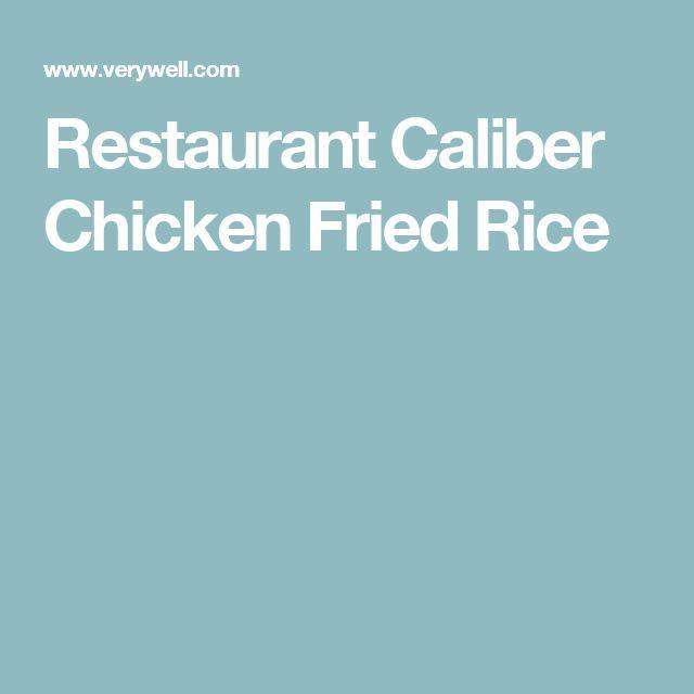 Restaurant Caliber Chicken Fried Rice