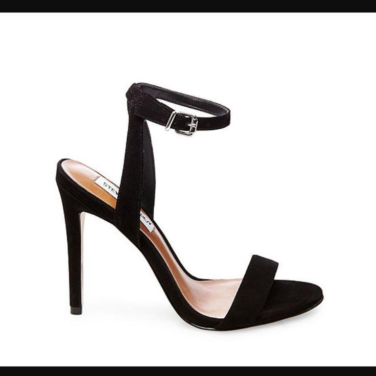 Steve Madden Landen Black Strap Heels