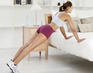 Stolen moments add up! Try to squeeze 15 10-minute exercises in throughout your day– It'll be worth it!